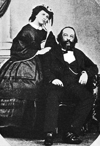 Mikhail Bakunin - Mikhail Bakunin and Antonia Kwiatkowska, circa 1861
