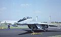 "Mikoyan-Gurevich MiG-29UB ""blue 53"" Russian Air Force, Farnborough UK, September 1988. (5589826774).jpg"