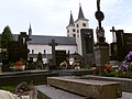 Milevsko monastery from the graveyard - panoramio.jpg