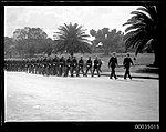 Military procession of American marines and sailors from USS ASTORIA (8630890570).jpg