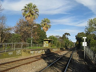 Millswood railway station - Image: Millswood Platform North 1 Aug 08