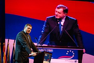 Proposed secession of Republika Srpska - Milorad Dodik in 2010.
