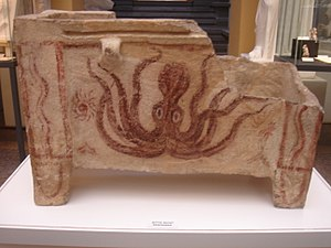 Larnax - Minoan larnax, with an octopus decoration.