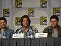 Misha Collins, Jared Padalecki & Jensen Ackles (4852653504).jpg
