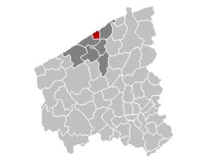 Bredene - Image: Mnp Bredene Location