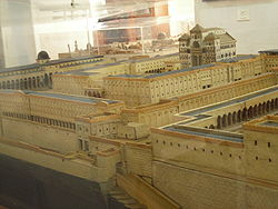 Model of Jewish temple by Schick