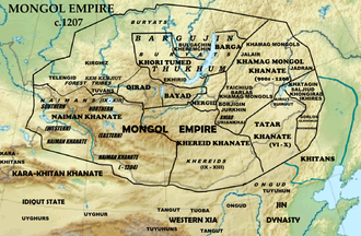 Khongirad - Mongol Empire c. 1207, Khongirad and their neighbours