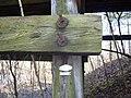 Monroe County - Victor Pike - abandoned railway - trestle - Osmose tag - P1120779.JPG