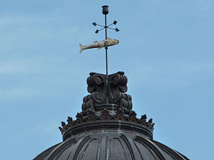 Monroe County Courthouse (Indiana) - Image: Monroe County Courthouse, dome and fish weather vane P1000031