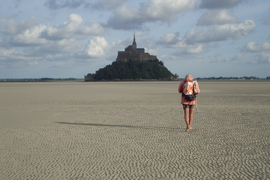 Road for abbey of Mont Saint-Michel