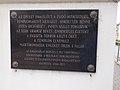 Moorish Revival synagogue by Lipót Baumhorn, Holocaust plaque, 2017 Szolnok.jpg