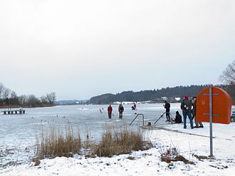 Moosseedorf - Moossee Lake in winter