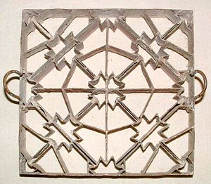 Cement tile - Cement tile mold, France, 1920