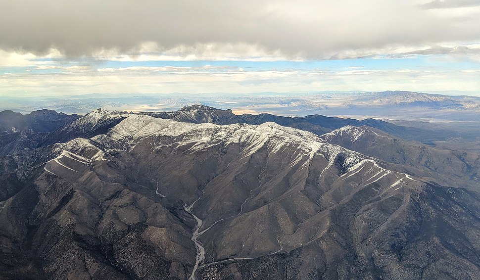 Mount Charleston and Trout Canyon aerial