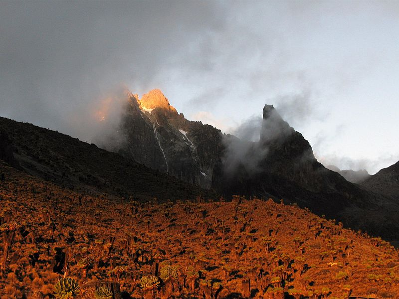File:Mount Kenya alpenglow.jpg