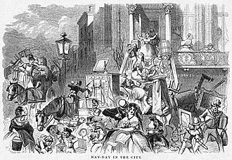Moving Day (New York City) - Moving Day in 1859, from Harper's Weekly