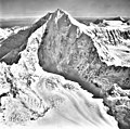 Mt Crillon, snow covered mountain and cirque glacier, September 18, 1972 (GLACIERS 5343).jpg