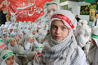 Keffiyeh - Iranian Children wearing the Chafiyeh during an religious gathering