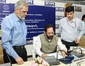 Mukhtar Abbas Naqvi launching the Interactive Voice Response System (IVRS) of National Minorities Development and Finance Corporation (NMDFC), at the inauguration of the Annual Conference of State Channelising Agencies.jpg