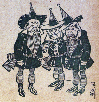 Munchkin - W. W. Denslow's depiction of Munchkins, from first edition of The Wonderful Wizard of Oz.