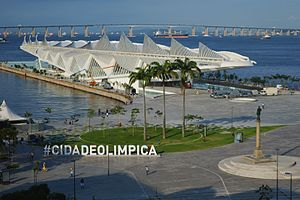 2016 Summer Olympics - Museum of Tomorrow, designed by Spanish architect Santiago Calatrava.