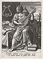 Musica, Johann Sadeler (I), after Maerten de Vos, Cornelis Cort, and Frans Floris (I), 1560 - 1600, engraving, 15.0 by 10.6 cm.jpg