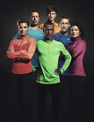 Mustafa Mohamed - Mohamed and other Team Fortum members Sanna Kallur, Magnus Arvidsson, Nicklas Wiberg, Yannick Tregaro and Jenny Kallur.
