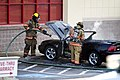 Mustang car fire at CVS on Key West Highway in North Potomac MD July 12 2012 (7575629078).jpg