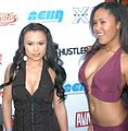 Mya Luanna and unknown at Hunter CARE bash.jpg