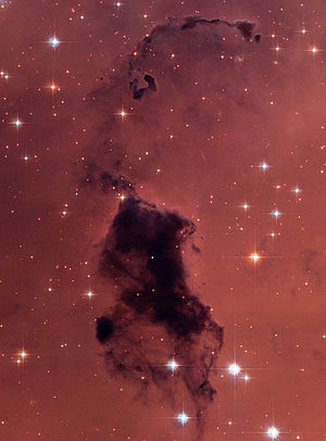Bok globule - Bok globules located within the NGC 281 nebula (IC 1590 cluster).