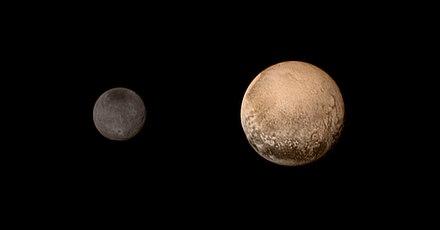 0a8aa82f7ca4d Fotografia de Plutão e Caronte feita pela sonda New Horizons