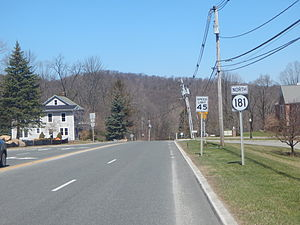 New Jersey Route 181 - Route 181 northbound after CR 517 in Sparta