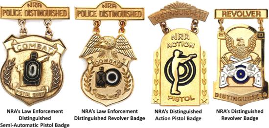 NRA Distinguished Pistol Badges