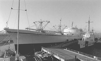 NS Savannah - Savannah at Patriots Point, South Carolina in 1990