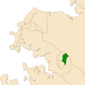 Electoral division of Brennan - Location of Brennan in the Darwin/Palmerston area
