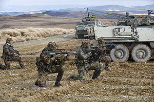 NZ Army soldiers with NZLAVs