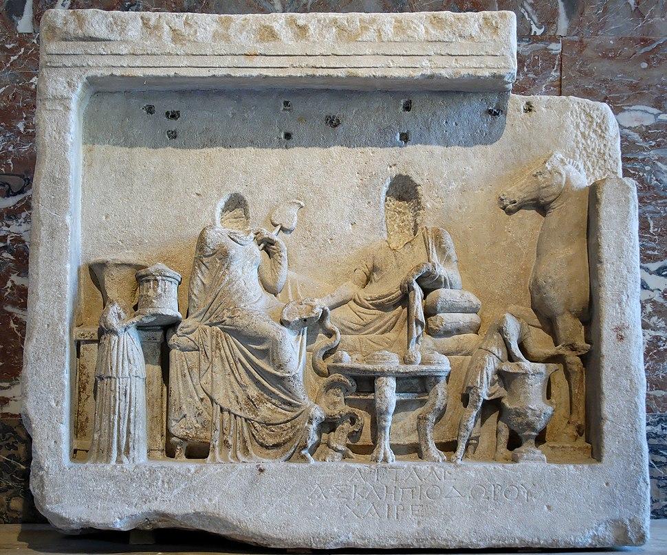 Naiskos stele Cyzicus Louvre Ma2854