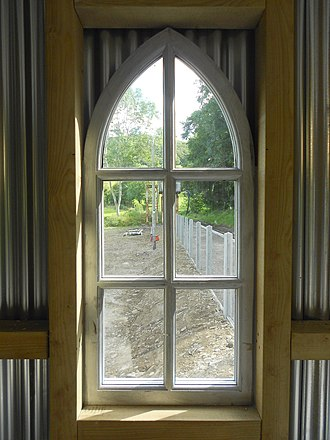 Nantyronen railway station - Image: Nantyronen railway station window