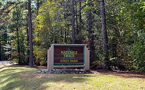 Natchez State Park Entrance Sign.JPG