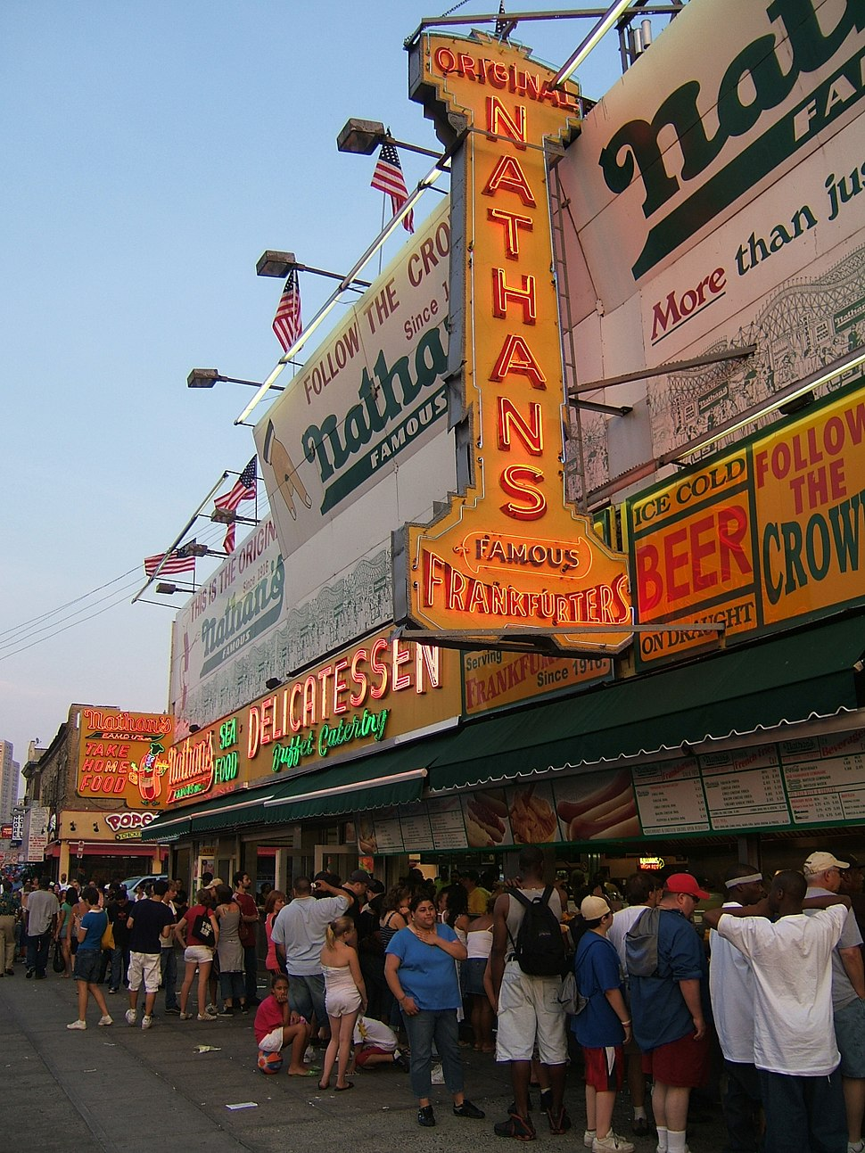 Nathan's Coney Island July 2007