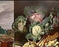 Nathaniel bacon, cuoca con natura morta di verdura e frutta, 1620-25 ca. 04 cavoli.jpg