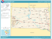 Geographic and political features of South Dakota
