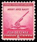 National Defense Anti-Aircraft Gun 2c 1940 issue U.S. stamp.jpg