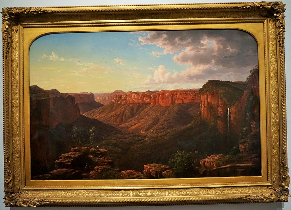 "National Gallery of Australia - Joy of Museums - ""Govett's Leap"" by Eugene von Guerard"