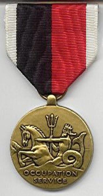 Navy Occupation Service Medal - Image: Nav Occ Medal