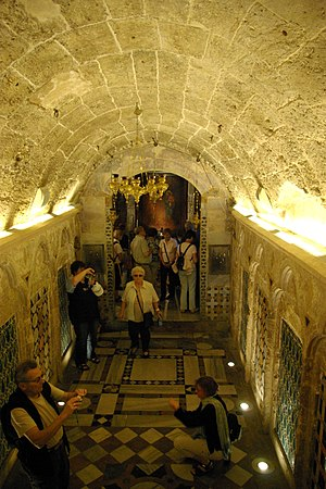 Greek Orthodox Church of the Annunciation - A view of the subterranean chapel, looking towards where the part of the church built in the 18th century
