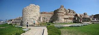 Nesebar - Fortifications at the entrance of Nesebar