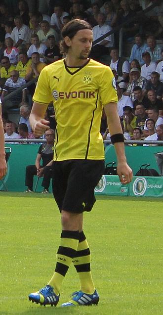 Neven Subotić - Subotić in action for Borussia Dortmund in 2013