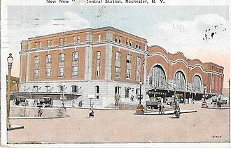 Rochester station (New York) - The 1914 New York Central Station known as Bragdon Station