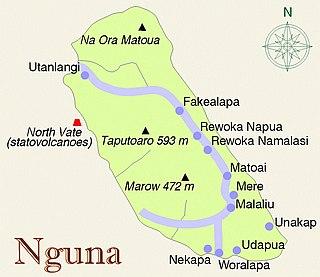 Nguna Island in Shefa Province, Vanuatu